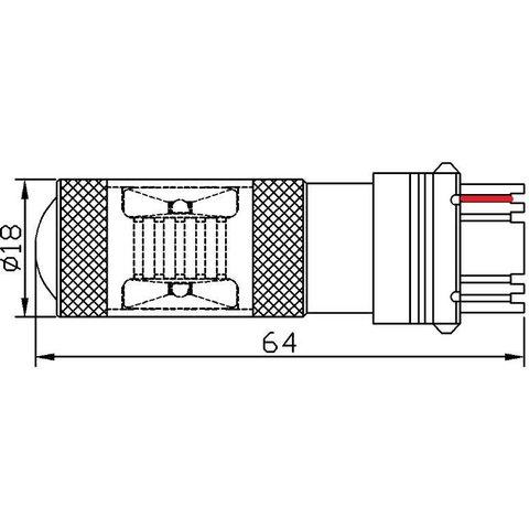 LED лампа тормоза/заднего хода UP-7G-3156WB-30W (белая, 12-24 В) Превью 1