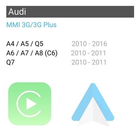 Беспроводной CarPlay и Android Auto адаптер для Audi с MMI 3G/3G Plus Превью 1
