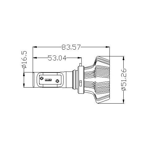 Набір світлодіодного головного світла UP-7HL-9005W-4000Lm (H7, 4000 лм, холодний білий) Прев'ю 1