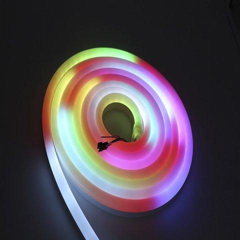 Світлодіодна стрічка RGB SMD5050, WS2811 (гнучка, неонова, U-форма, з управлінням, ІР67, 12 В, 60 діодів/м, 5 м) Прев'ю 2