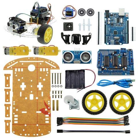 Конструктор Arduino Робомашинка з давачем (датчиком) для оминання перешкод + посібник користувача Прев'ю 5